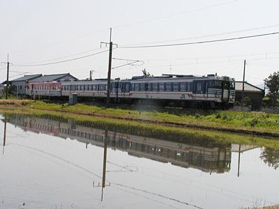水鏡の列車