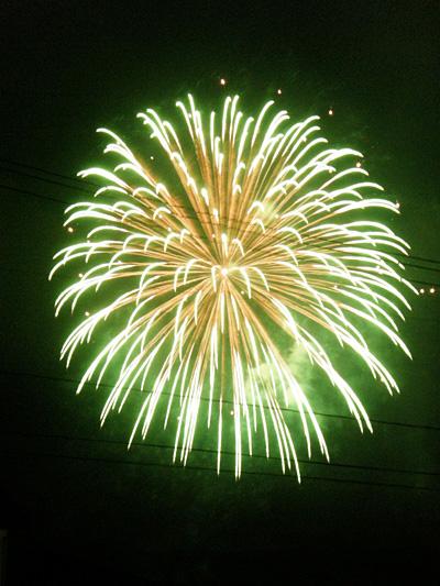 瓢湖の花火