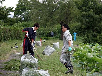 商工会青年部の清掃ボランティア